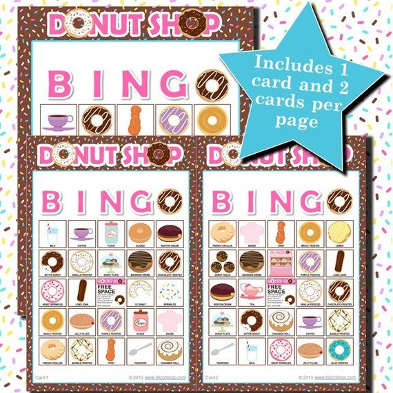 Donut party bingo game