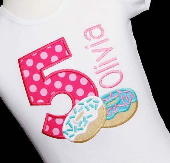 Personalized donut party shirt