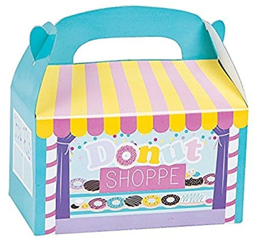 Donut party favor box