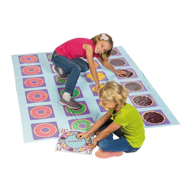 Twister inspired donut party game