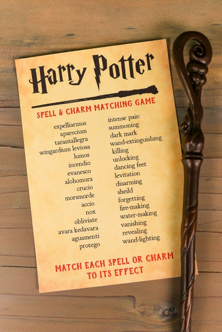 Harry Potter games matching potions and their results