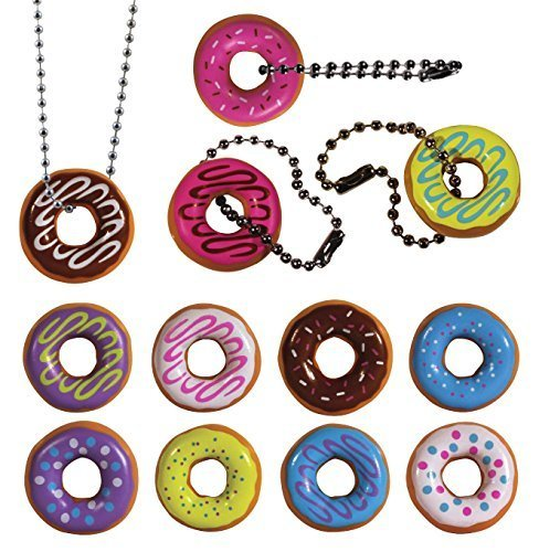 Donut party necklaces