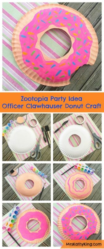 Donut party craft idea from a paper plate
