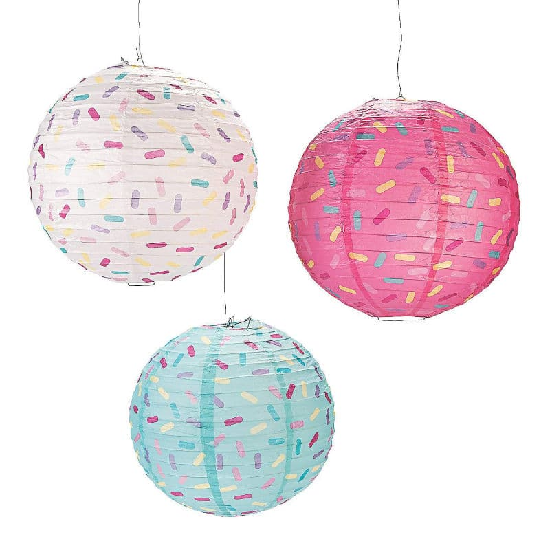 Party lanterns make great donut party decorations
