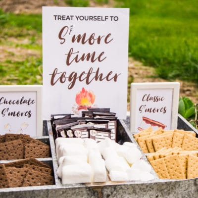 Sweet DIY S'mores Bar Ideas + Free Printable S'mores Bar Signs