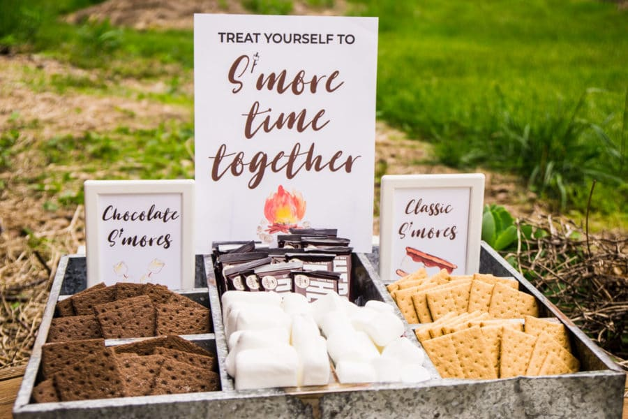 A DIY s'mores bar