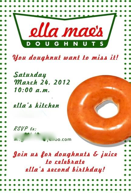 Krispy Kreme donut party invitation