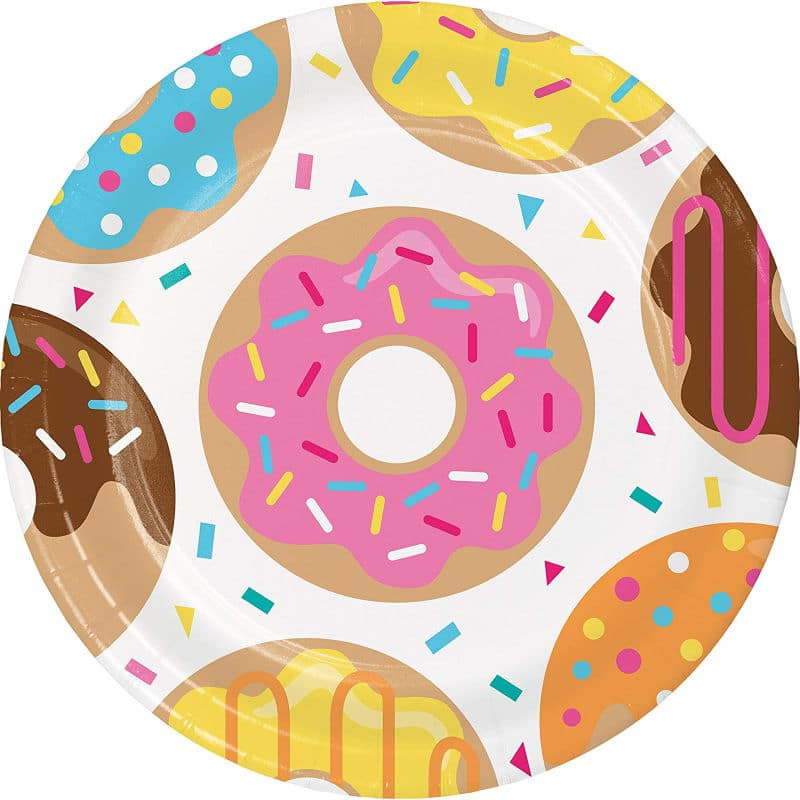 Donut plates for a donut party