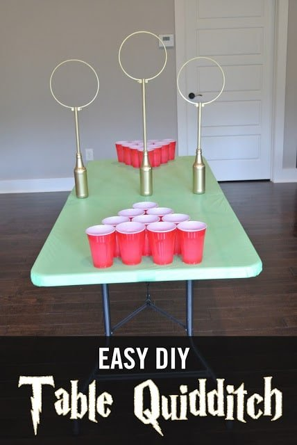 DIY table quidditch and other Harry Potter party games