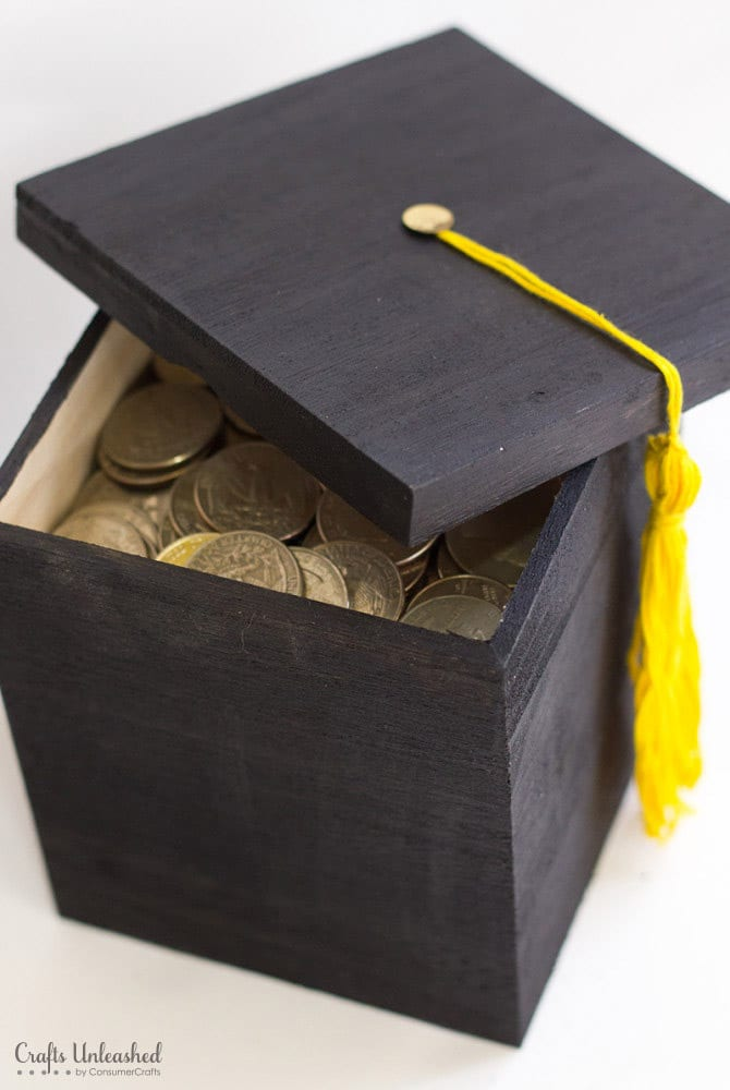 A DIY graduation money box makes one of the best graduation gifts