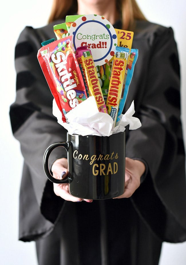 A graduation candy bouquet and other graduation gift ideas