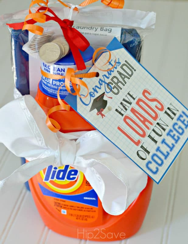 Laundry gift basket and other fun high school graduation gifts
