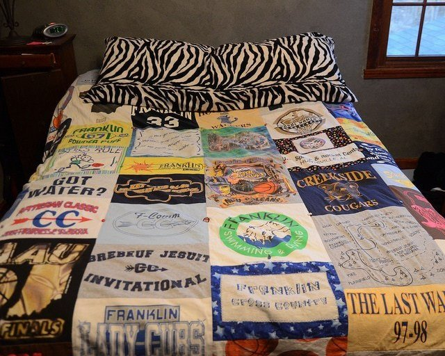 A t-shirt quilt and other graduation gifts