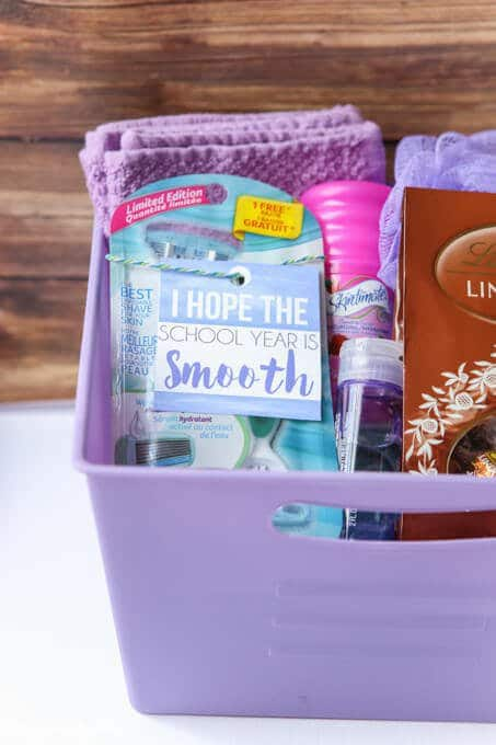 College themed gift baskets and other graduation gifts for her
