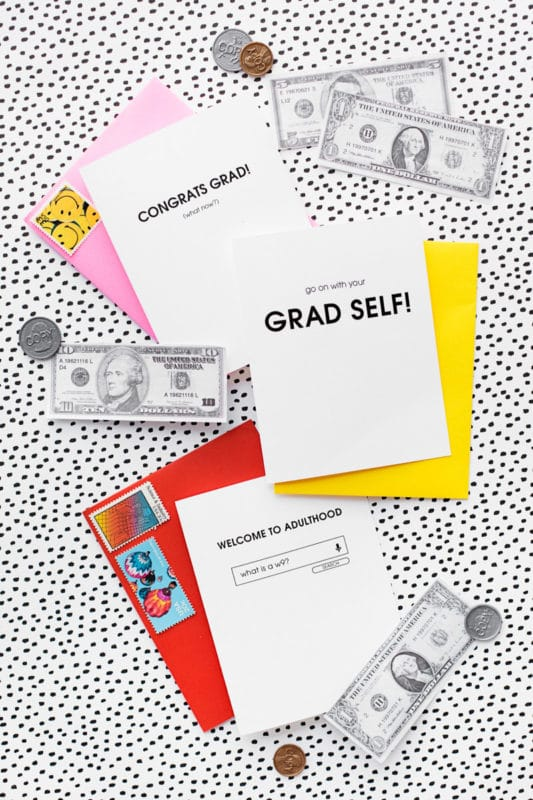 Welcome to adulthood cards and other graduation gifts