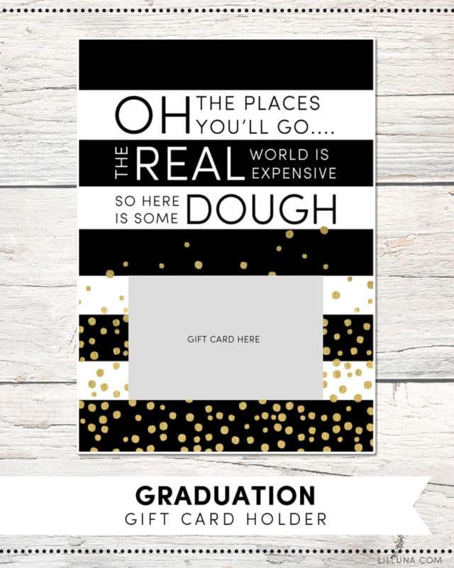 Free printable graduation gift card