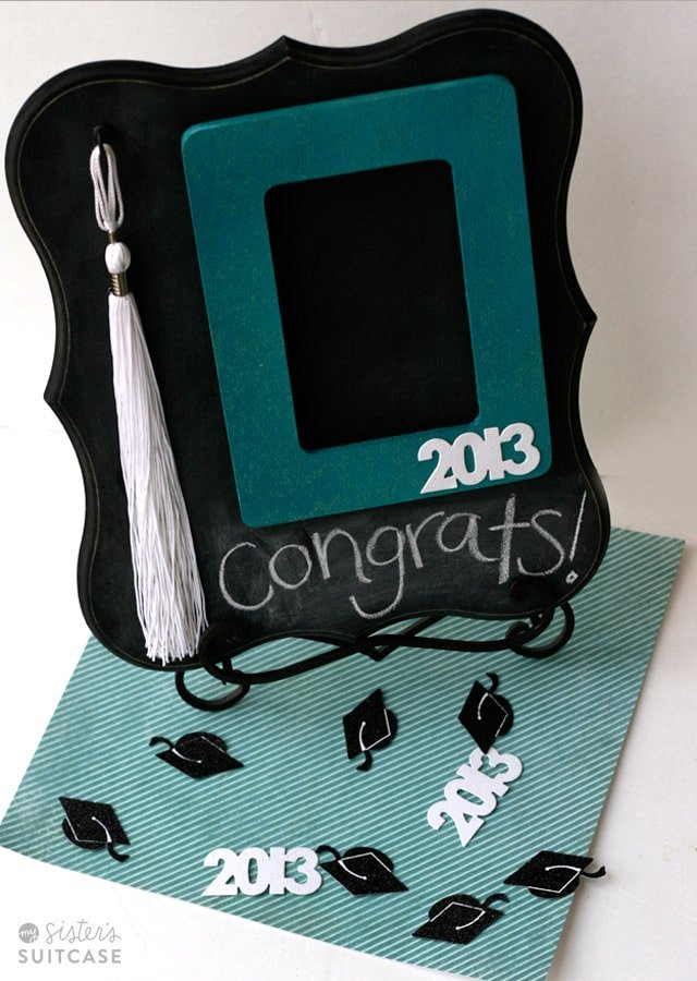 A cute painted graduation picture frame