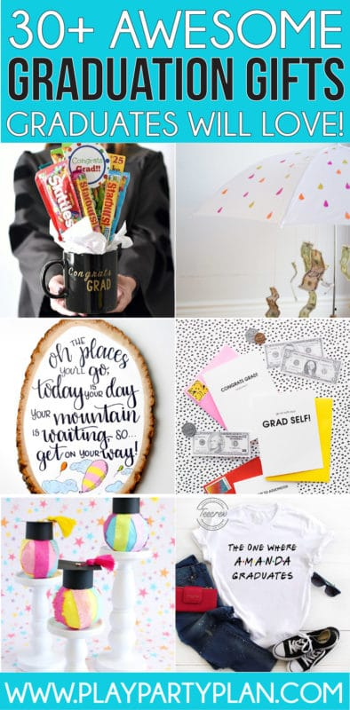 The best graduation gift ideas ever! The ultimate collection of high school and college graduation gift ideas for girls, for boys, for friends, and even for boyfriend! Tons of great inexpensive gifts and fun ways to gift money or gift cards!