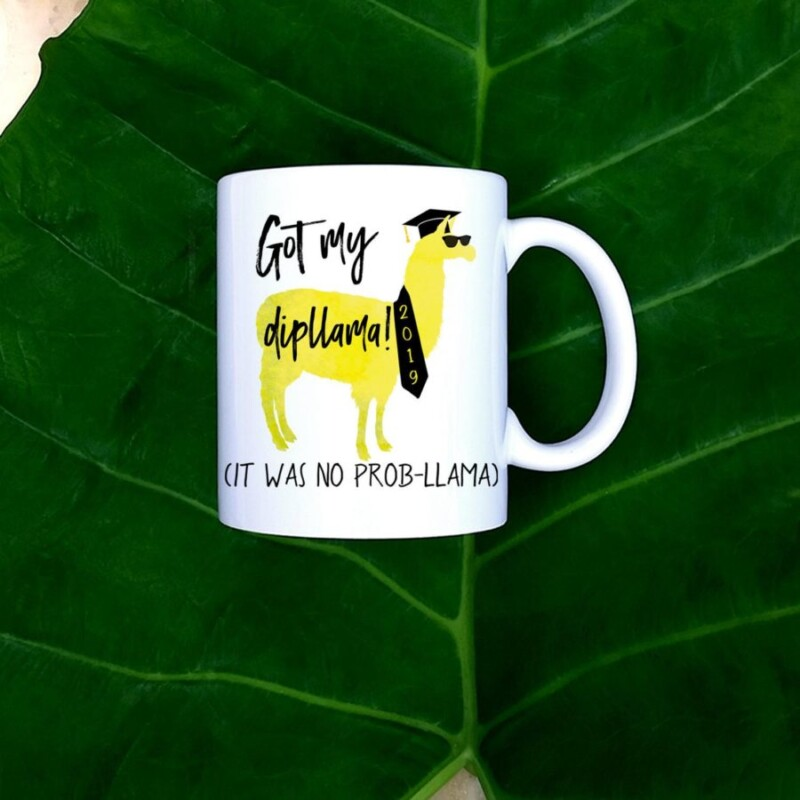 Funny graduation gift ideas on a mug