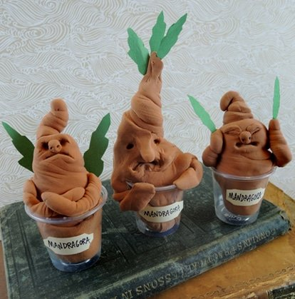 Mandrakes made during Harry Potter party games
