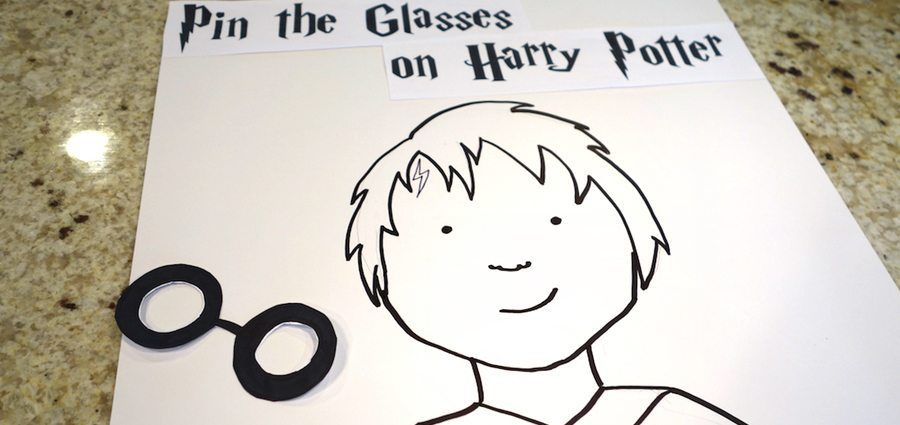 Pin the glasses on Harry Potter games