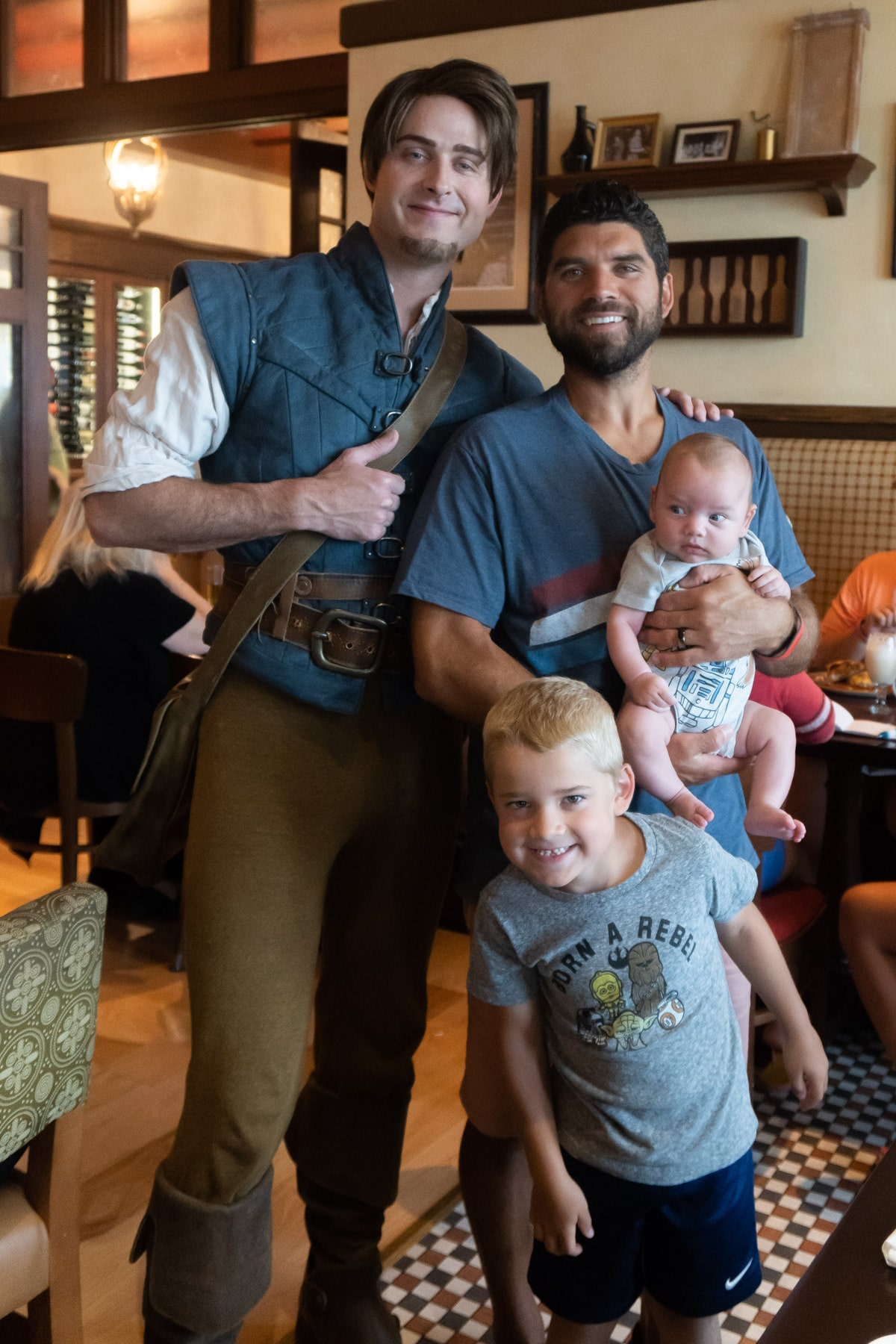 Family with Flynn Rider at Trattoria al Forno