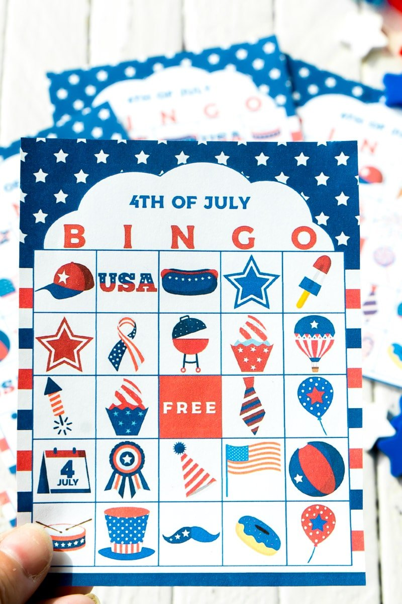One 4th of July bingo card