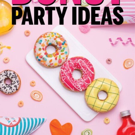 The best donut party ideas ever! From decorations to games and of course food and cake ideas - this is the ultimate collection of ideas for a donut theme birthday! Perfect whether you want to DIY favors, use already made printables, or just buy the invite and centerpieces! So many sweet ideas.
