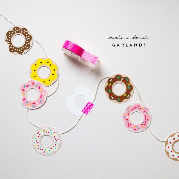 Donut garland for a donut party