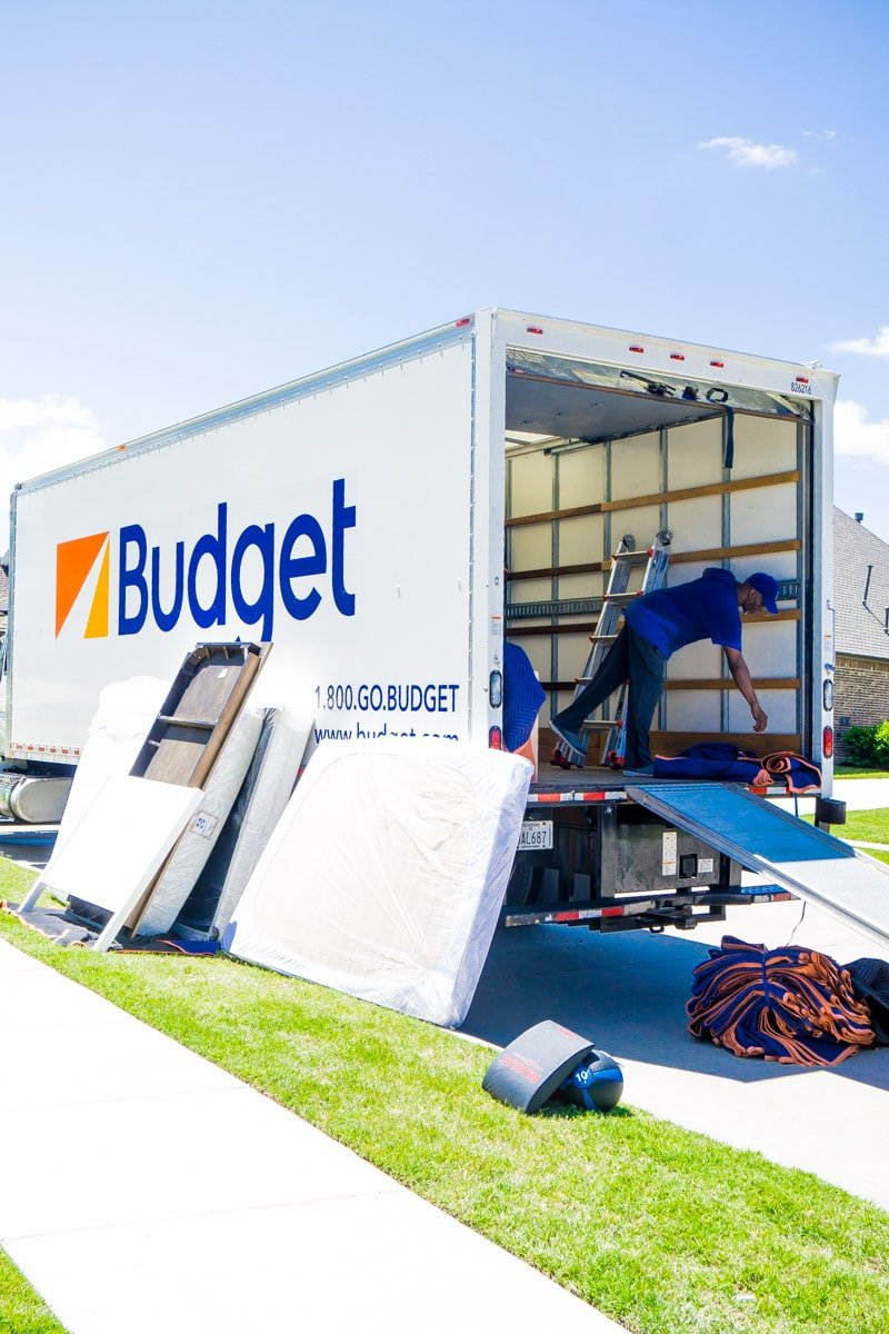 Hire a Helper packing a moving truck