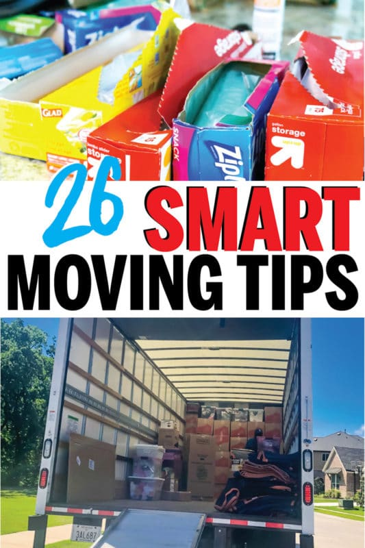 Brilliant packing and moving tips for moving long distance, out of state, or just around the corner! Great ideas and tricks that'll work whether you're downsizing to an apartment or moving into a house for the first time! And I love that checklist idea for keeping organized last minute!