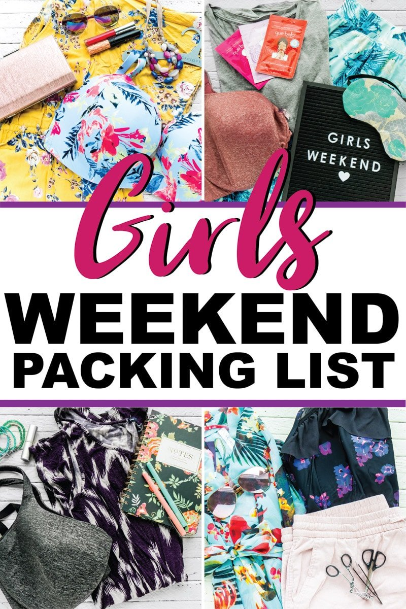 The perfect weekend packing list for a 3 day girls getaway that goes in a carry on! Perfect for a minimalist who still wants to bring cute outfits for exploring a new city! The ultimate girls weekend packing list!
