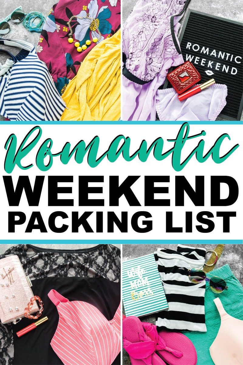 The perfect weekend packing list for a 3 day spring or summer romantic weekend getaway! Ideal if you want to travel light and are going the city, mountains, or even on a road trip!