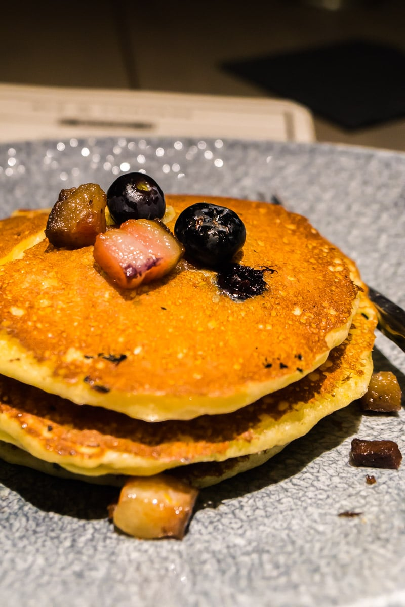 Blueberry bacon pancakes at one of the best Disney World restaurants