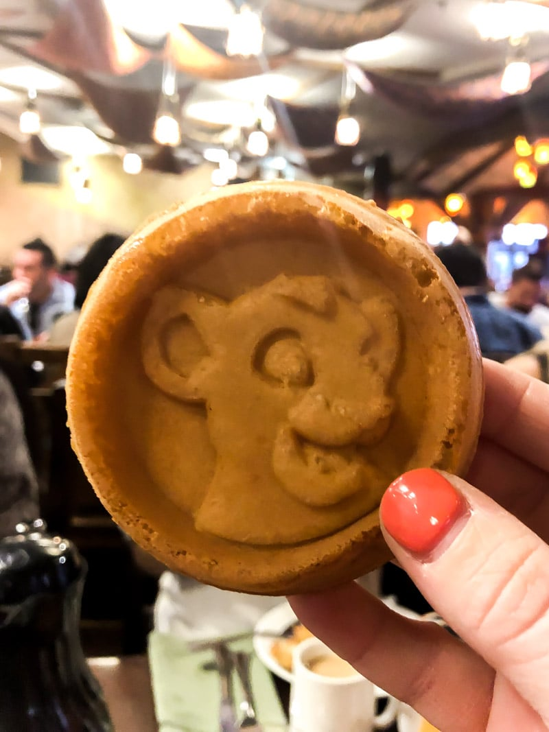 Simba waffles served at Disney World restaurants