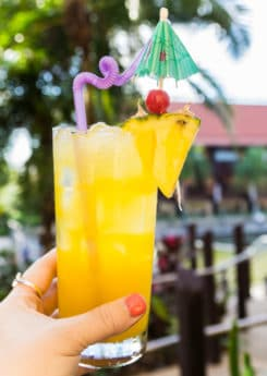 Drinks at one of the best Disney World restaurants