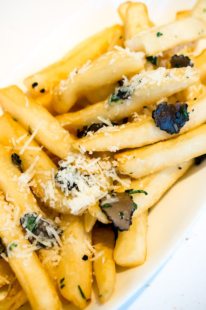 Truffle fries at one of the Disney World signature restaurants