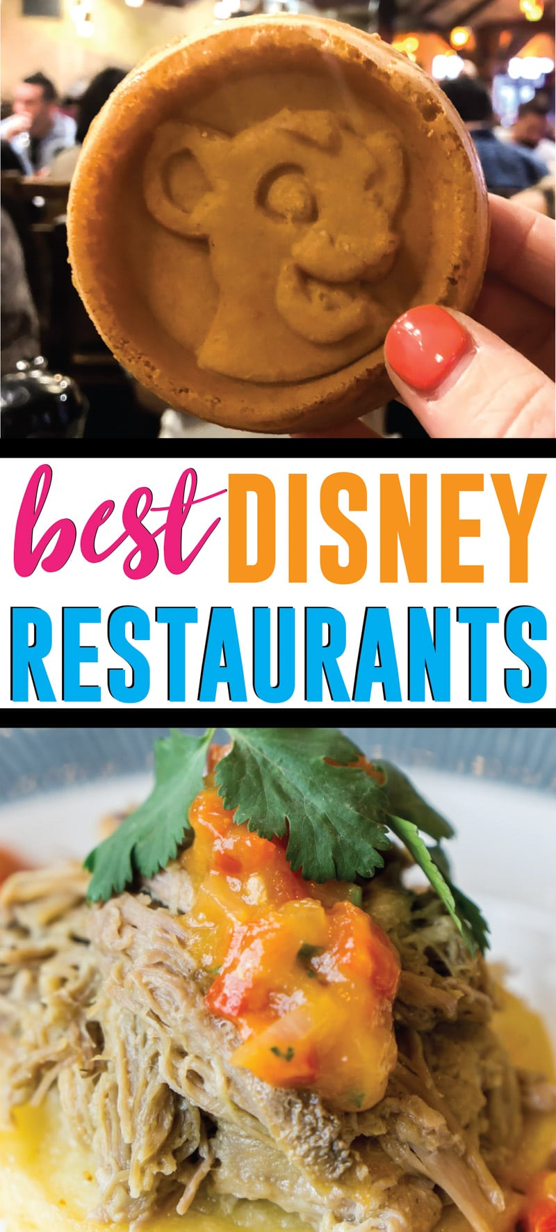 A great list of the best Disney World table service restaurants for adults with must-eat items from the menus, whether they take dining plan or not, info about what's on the menu, and more! You've gotta try all of these restaurants at least once!