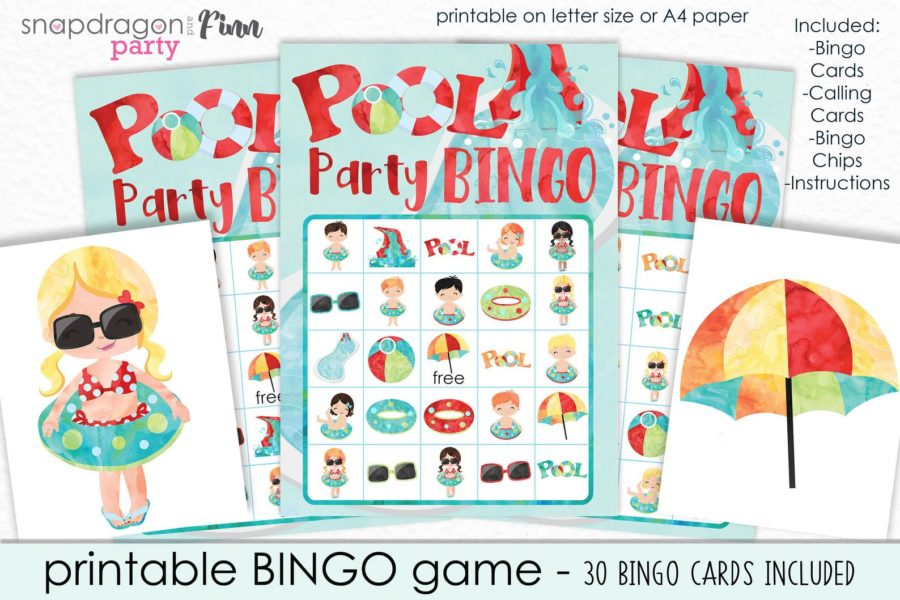 Bingo pool party games