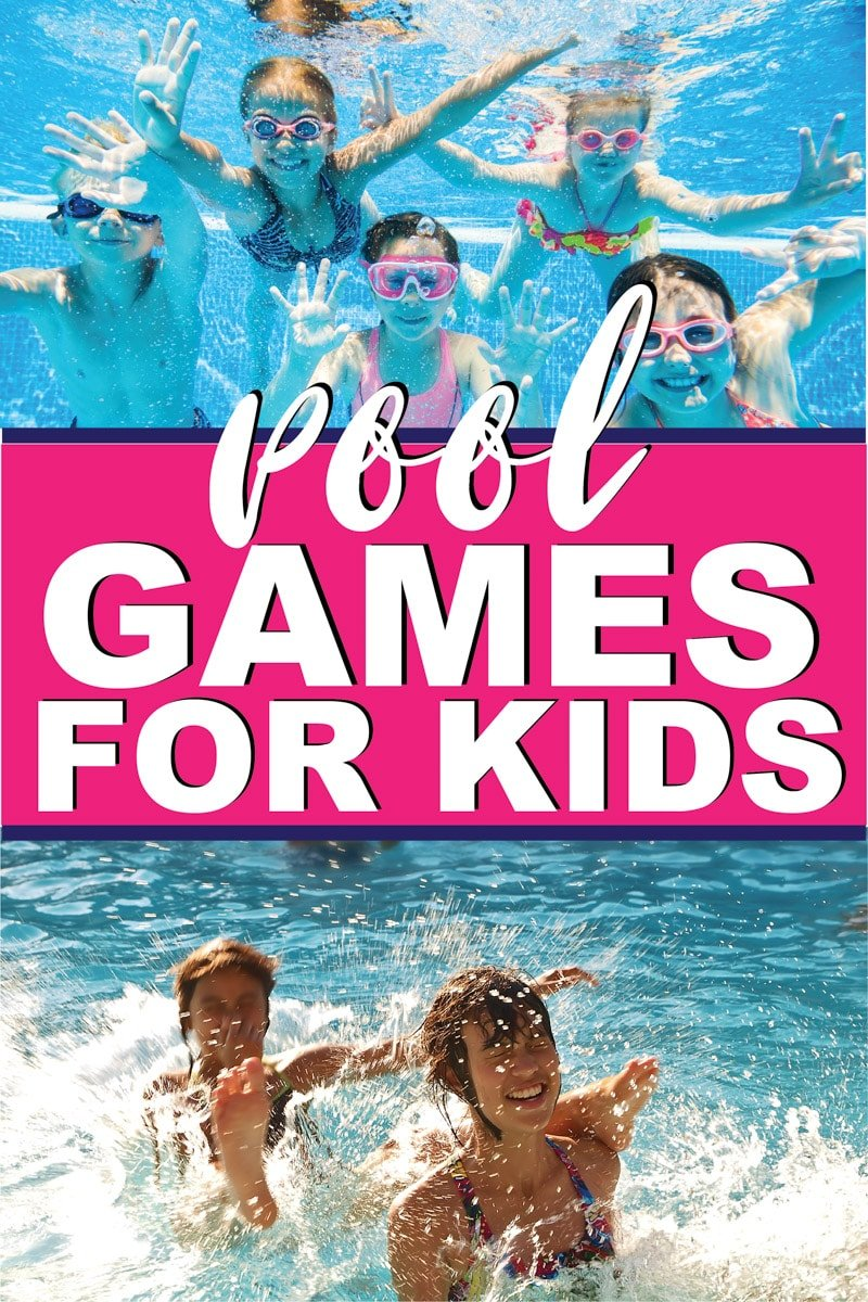 Kids playing swimming pool games