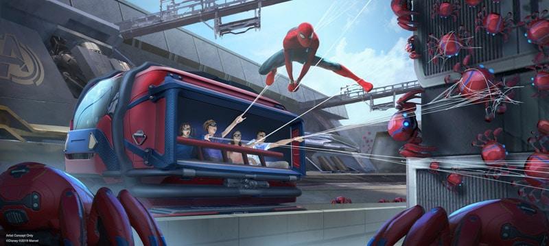 Spider-man ride at Disneyland
