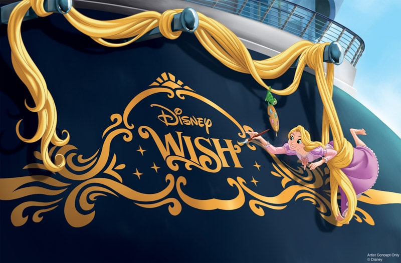 front of the Diseny Wish