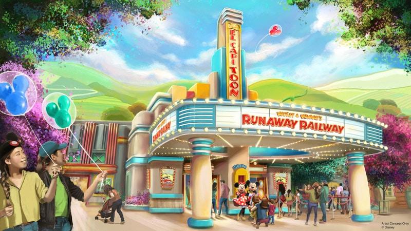 Location for Mickey & Minnie's Runaway Railroad.