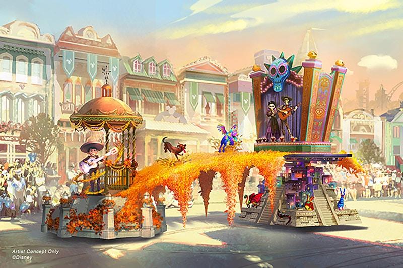 Coco Magic Happens parade float