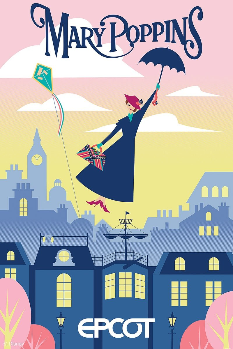 Mary Poppins poster for the addition to United Kingdom.
