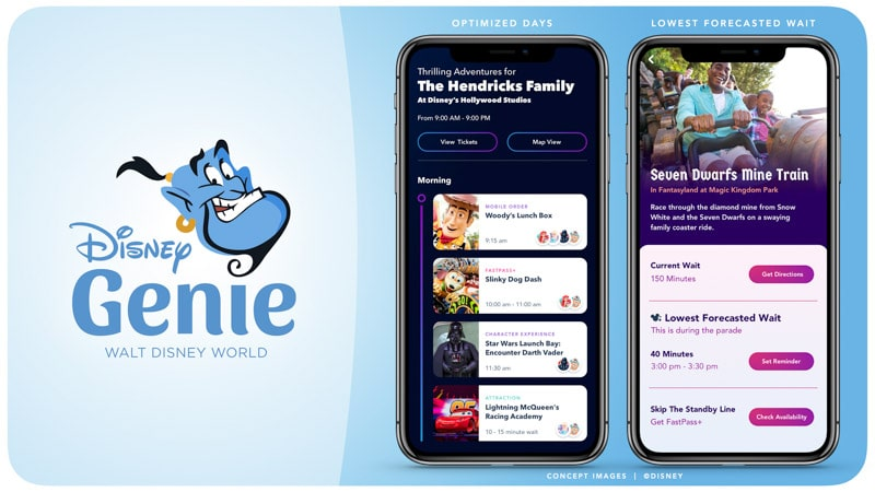 Disney Genie planning app.