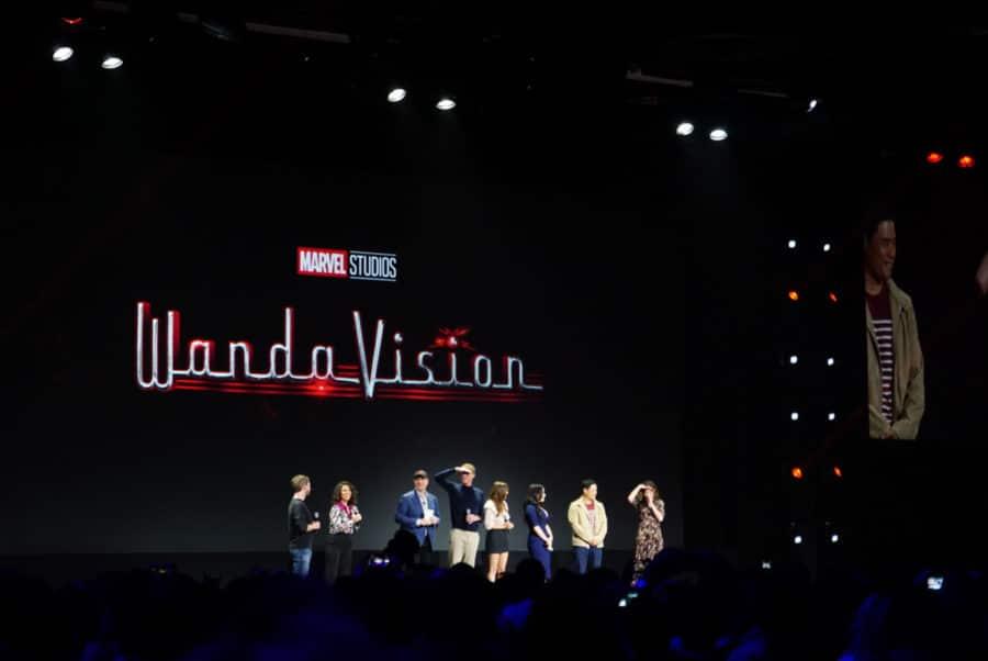 Stars of Wanda Vision on Disney Plus