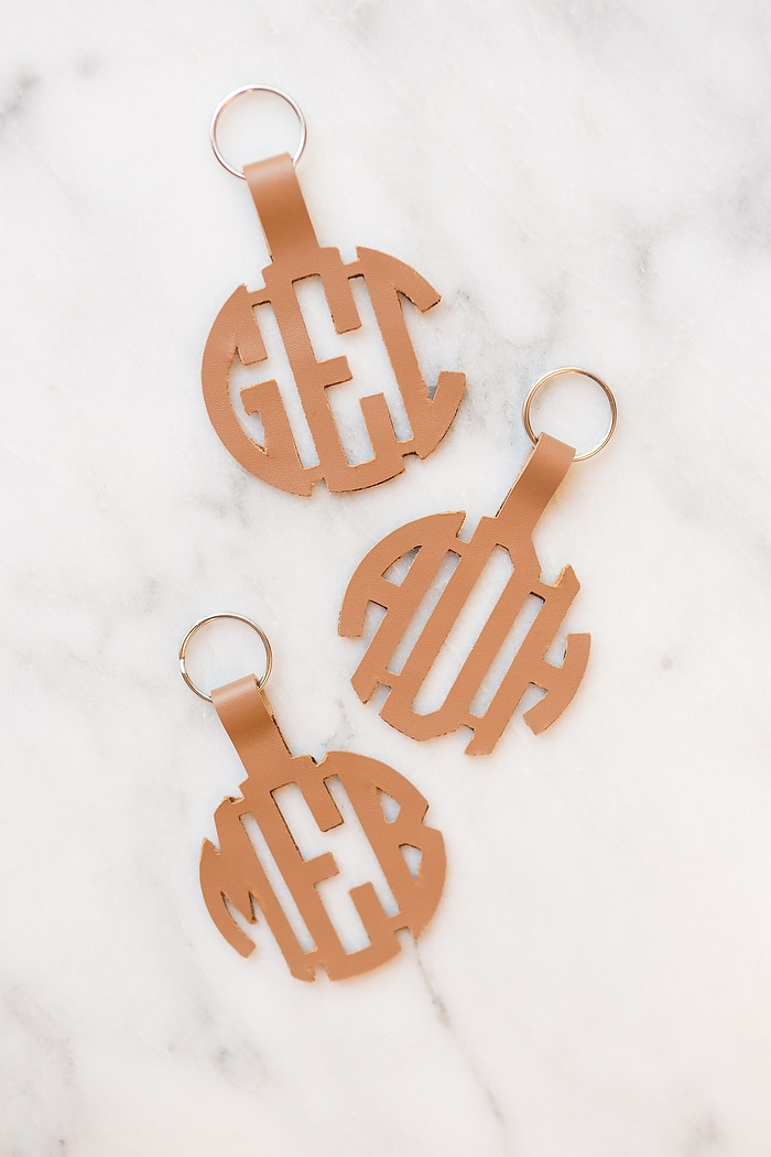 Personalized bridesmaid gift keychains