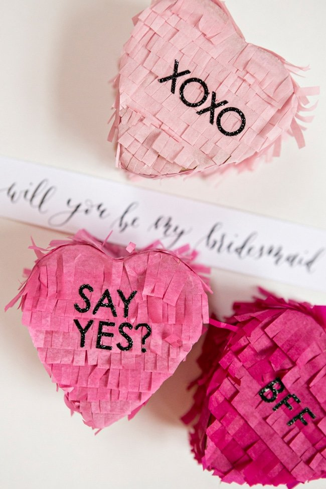 Pinatas for will you be my bridesmaid gifts