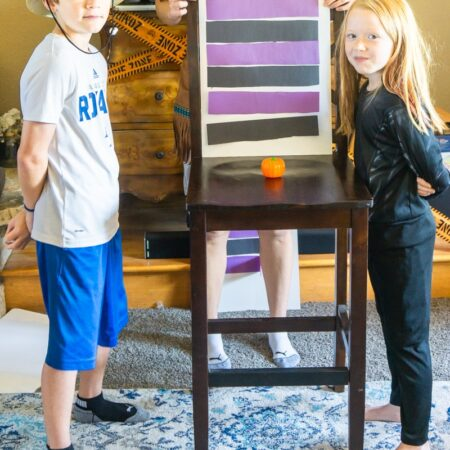 Kids facing off with family feud questions